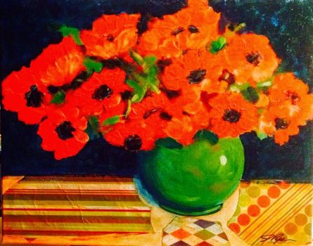 """Plentiful Poppies"" by J Piper"