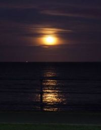 Moon rise over Filey Bay
