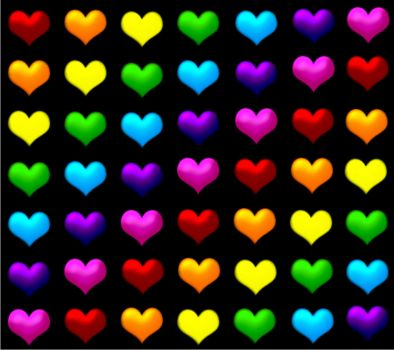 hearts of many colors!!!!