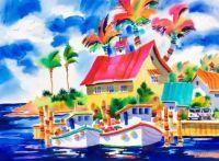 Tropical Harbor by Ellen Negley
