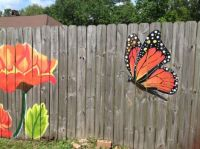 Fence painting 2, by Lori Anselmo Gomez