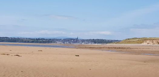 View of Tramore from the sand dunes