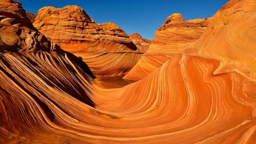 The Wave, sandstone rock formation in Coyote Buttes, Vermilion Cliffs National Monument, Arizona