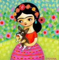 Frida and dog Tascha