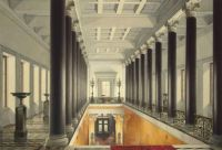 Eduard Hau, Interiors of the New Hermitage, The Upper Landing of the Main Staircase (1853)