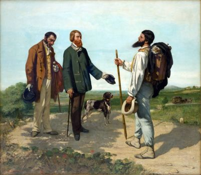 Courbet - The Meeting (or: Bonjour, Monsieur Courbet)