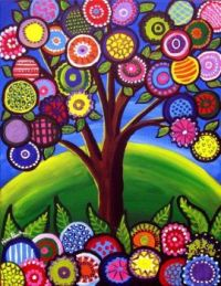 A very colourful tree image