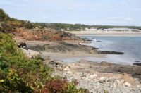 Small beaches seen from the Marginal Way