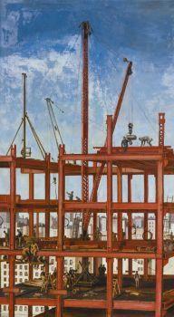 Reginald Marsh (American, 1898–1954), Construction, Steel Workers (1924)