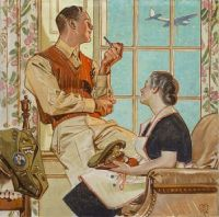 "'Soldier at Home"", by Joseph Christian Leyendecker"