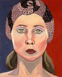 Joan Brown (American, 1938 – 1990), 'Self-Portrait in Knit Hat', 1972