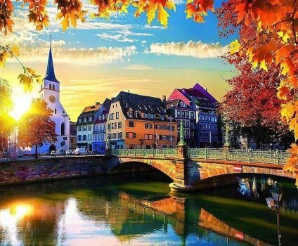 Strasbourg at sunset