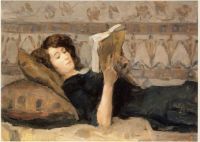 Isaac Israëls Reading Girl On A Sofa