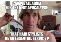 Why don't they understand a hairdresser is a Key Worker!!