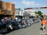 Lots of motorcycles in Sturgis