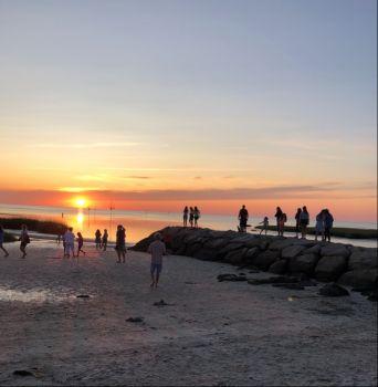 Sunset watching at Rock Harbor