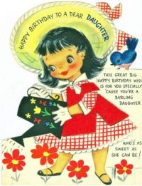 Themes Vintage illustrations/pictures - Happy Birthday to a dear Daughter