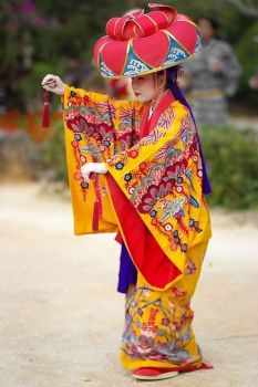 Traditional Dance Costume of Okinawa