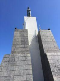 Virgin Mary overlooking Praia da Vitoria, Terceira, Azores.