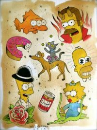 Simpsons Flash Art
