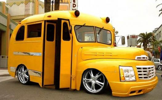 funny cars - hot rod school bus?