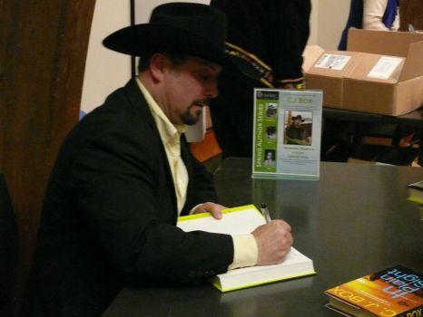 Author C J Box signing my book