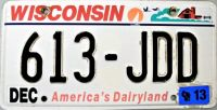 License Plate  ~  Wisconsin