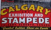 Top of a 1955 Calgary Stampede Poster