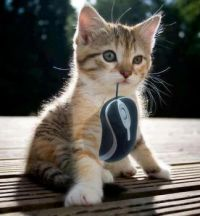 Hey mom, I caught a mouse!