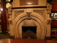 Fireplace at the Cresent Hotel