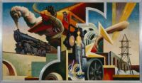 Thomas Hart Benton--America Today panel, Instruments of Power, 1930 - 1931