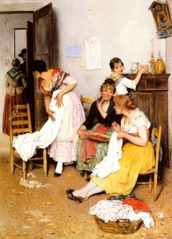 The New Suitor by Eugene de Blaas