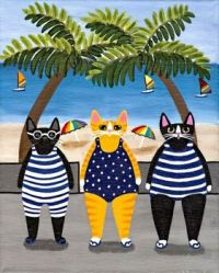 Beach Cats by Ryan Conners