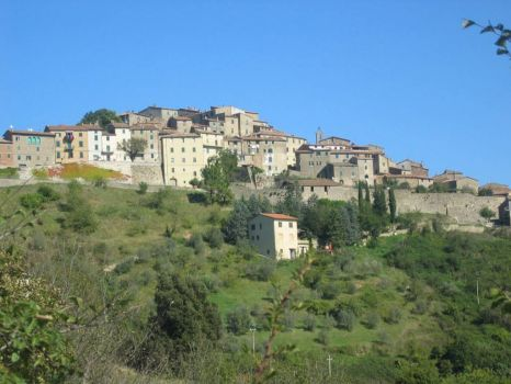 Hillside Town in Tuscany