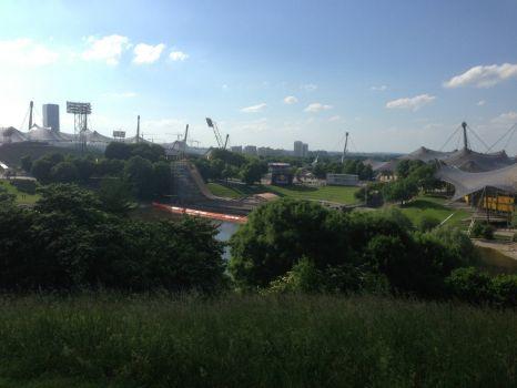 Assembling the X-Games in Munich