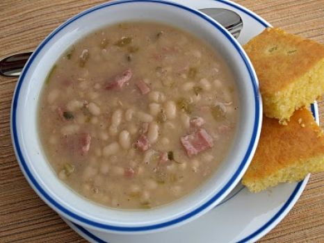 Soup beans and corn bread!
