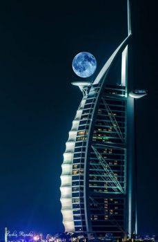 Moon over the Burj