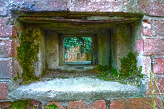 WWII Pillbox Window ... Looking from the Outside Inwards