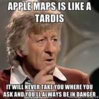 dr who apple maps funny