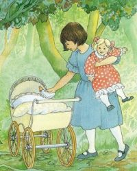 Themes Vintage illustrations/pictures - The enchanted Doll