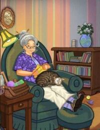 Knitting with kitten
