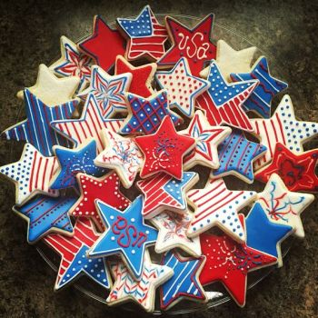 Happy 4th of July Star Cookies