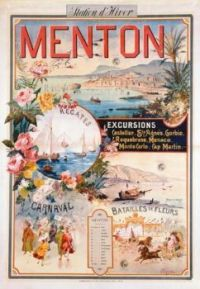 Vintage advertising for Menton