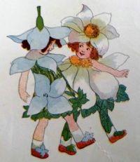 Anemones and Bluets. Elizabeth Gordon. Flower Children. 1910
