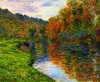 Claude Monet - Arm of the Jeufosse, Autumn, 1884  (Mar17P61)