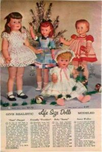 Vintage catalog dolls