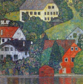 Klimt - Houses in Unterach on Lake Atersee, 1916