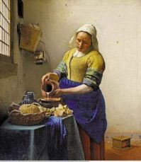 The Milkmaid by Vermeer