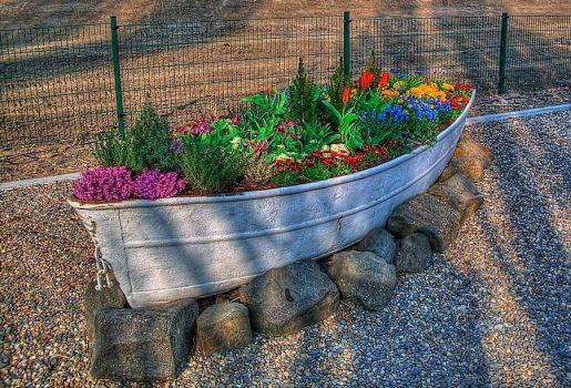 The Boat Of Flowers