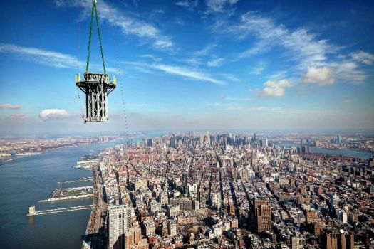 View of New York City from the top of the new World Trade Center